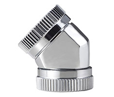Phanteks Hard Tube 45 Degree 12mm Fitting Chrome