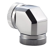 Phanteks 12mm Hard Tube Adapter 90 Degree Chrome
