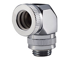 Phanteks 12mm Hard Tube Rotary Fitting 90 Degree G1/4 Chrome