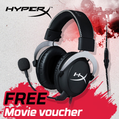 HyperX Cloud Silver Gaming Headset Promotion