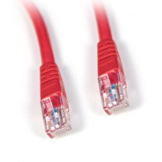 PCCG Cat 6 Ethernet Cable Red 1m