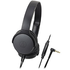 Audio-Technica AR1iS-BK On Ear Headphones For Smartphones