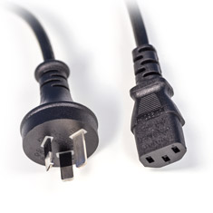 PCCG AU Power Cable Plug C13 IEC 2m Black