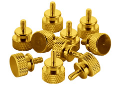 CableMod Anodized Aluminum Thumbscrews - Gold