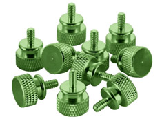 CableMod Anodized Aluminium Thumbscrews - Green