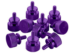 CableMod Anodized Aluminum Thumbscrews - Purple
