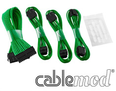 CableMod Basic ModFlex Cable Extension Kit Green (6+2Pin)