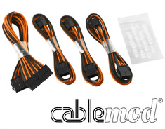 CableMod Basic ModFlex Cable Extension Kit Black/Orange (6+2Pin)