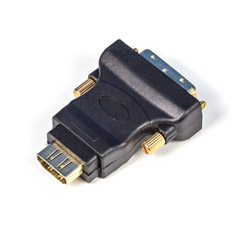 PCCG DVI-D to HDMI v1.4 Male to Female Adaptor Black
