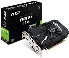 MSI GeForce GTX 1050 Aero ITX OCV1 2GB