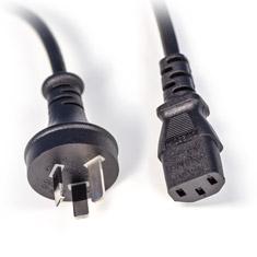 PCCG AU Power Cable Plug to C5 IEC 2m Black