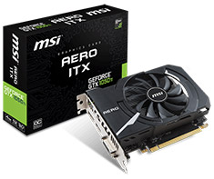 MSI GeForce GTX 1050 Ti Aero ITX OC 4GB