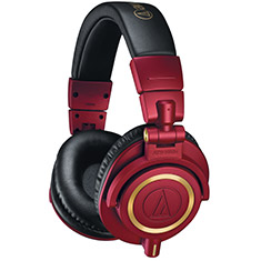 Audio-Technica ATH-M50X Professional Studio Headphones LE Red