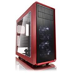 Fractal Design Focus G ATX Case with Window Mystic Red