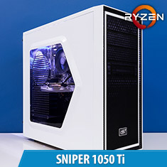 PCCG Sniper 1050 Ti Gaming System