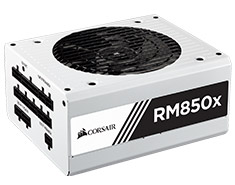 Corsair RM850x Gold 850W Power Supply - White