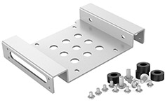 Orico Aluminium 5.25in to 3.5in/2.5in Hard Drive Caddy Silver