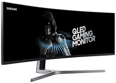 Samsung C49HG90 DFHD S-UltraWide 144Hz 49in QLED Curved Monitor