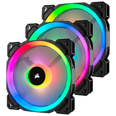 Corsair LL120 RGB Black Triple Fan Kit with Lighting Node PRO
