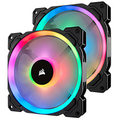 Corsair LL140 RGB 140mm Fans 2 Pack with Lighting Node Pro