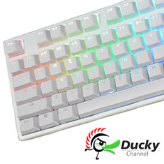 Ducky One White DS PBT RGB Mechanical Keyboard Cherry Red