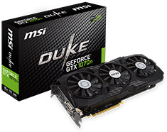 MSI GeForce GTX 1070 Ti Duke 8GB