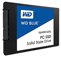 Western Digital Blue 2.5in SATA SSD 250GB
