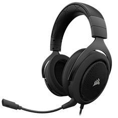 Corsair HS50 Stereo Gaming Headset Black