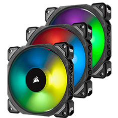 Corsair ML120 PRO RGB 120mm Mag Lev PWM Fan 3 Pack w/ Node Pro