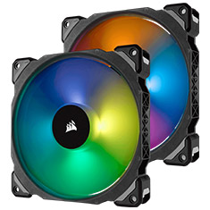 Corsair ML140 PRO RGB 140mm Mag Lev PWM Fan 2 Pack w/ Node Pro