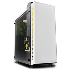 Deepcool Baronkase AIO Liquid Cooled MATX Case White