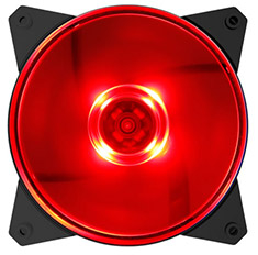 Cooler Master MasterFan MF120L 120mm Red LED Fan