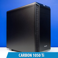 PCCG Carbon 1050 Ti Gaming System