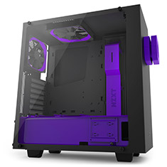 NZXT S340 Elite Matte Black and Purple Limited Edition