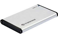 Transcend StoreJet 25S3 2.5in USB 3.1 SSD / HDD Enclosure