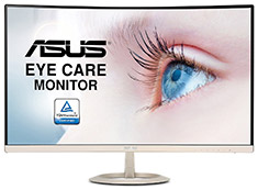 ASUS VZ27VQ 27in Eye Care Curved Monitor