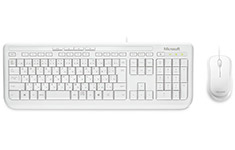 Microsoft Wired Desktop 600 Keyboard & Mouse Combo - White