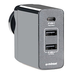 mbeat Gorilla Power 3 Port USB-C Travel Charger