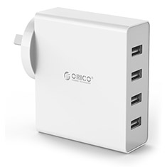 Orico 4 Port USB Wall Charger White