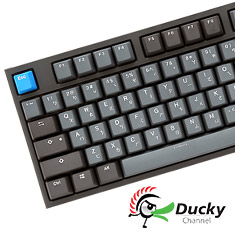 Ducky One 2 Skyline PBT Mechanical Keyboard - Cherry Silver