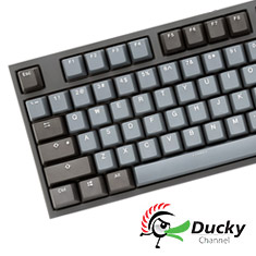 Ducky One 2 Skyline TKL Mechanical Keyboard Cherry Speed Silver