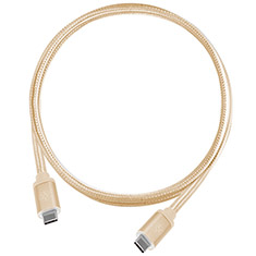 SilverStone CPU06G-1000 Type C Male to Male Cable - Gold 1m