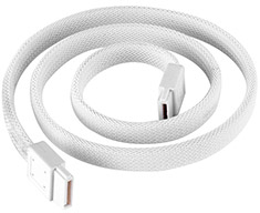 SilverStone CP07W Sleeved SATA Cable White 50cm