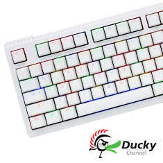 Ducky Shine 6 White RGB Mechanical Keyboard Cherry Red