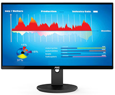 AOC I2490VXQ/75 23.8in IPS Flicker Free Monitor