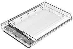 Orico 3.5in External Hard Drive Enclosure Clear