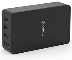 Orico 34W 4 Port Smart Desktop Charger Black