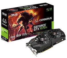 ASUS Cerberus GeForce GTX 1070 Ti Advanced Edition 8GB