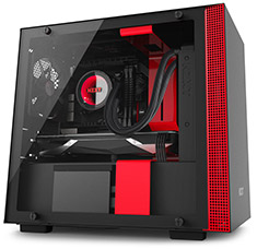 NZXT H200i Smart Mini-ITX Case Black/Red