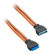 CableMod ModFlex Internal USB 3.0 Ext. 50cm Orange